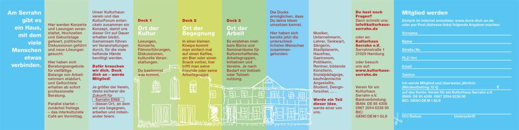 Kulturhaus Serrahn - Flyer Rückseite